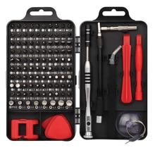 precision schroevendraaier set 110 in 1 torx screwdriver set bitjes screw driver mini magnetische Precisie schroevendraaier bits kit torx bit inbus set schroefbit houder dopschroevendraaier horloge schroevendraaiers