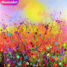 MomoArt Diamond Embroidery Flowers Painting Scenic Mosaic Full Drill Rhinestone Home Decor Accessories