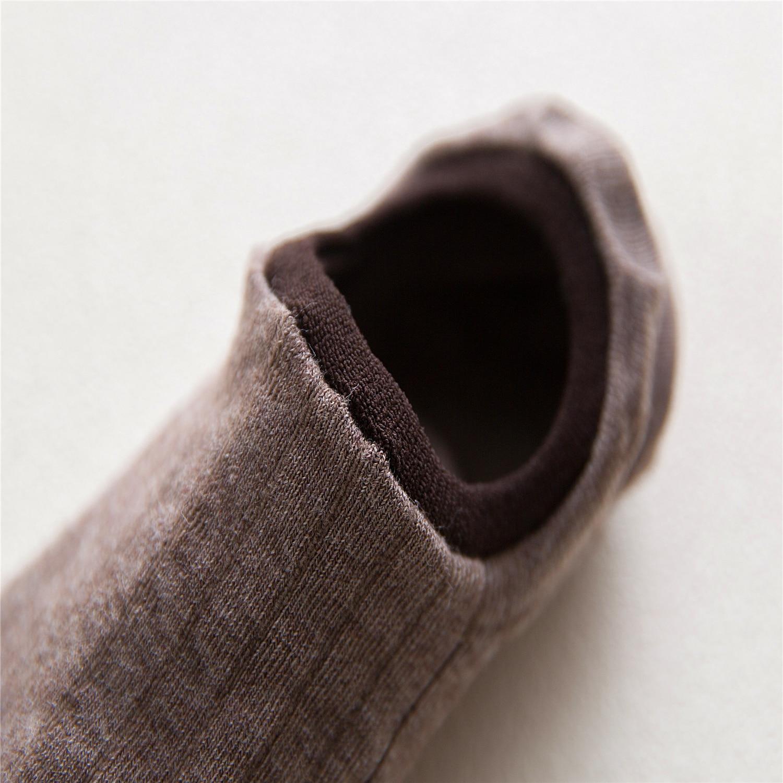 Men's summer slim leisure invisible socks 100 pure color dark vertical lines cotton boat socks men's socks 484