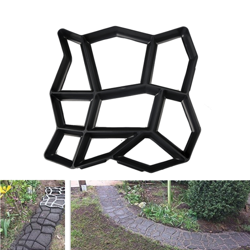 Garden Concrete Molds Manually DIY Paving Cement Brick Molds Plastic Stepping Driveway Mold Garden Stone Road Patio Path Maker