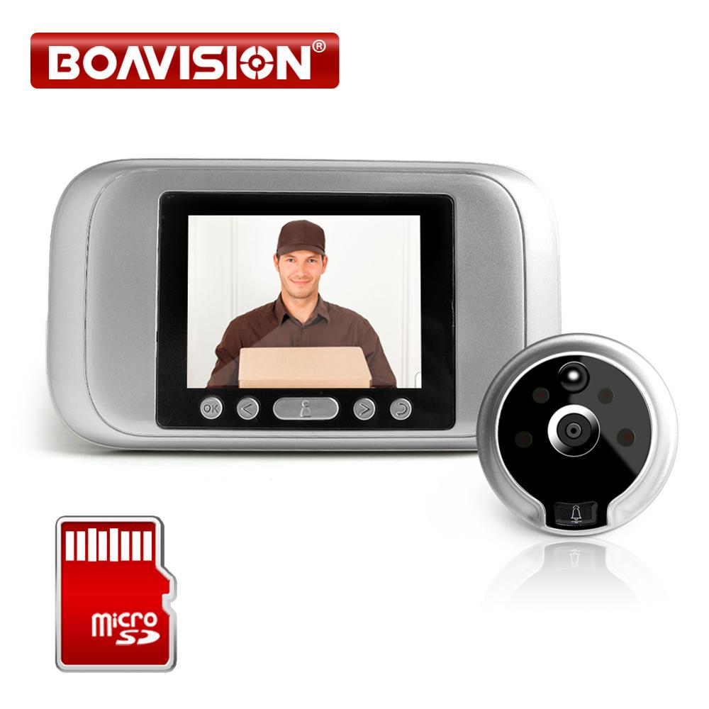 4.3 Inch Video Doorbell Zinc Alloy Video Door Phone 120 Degree 2MP Peephole Viewer PIR Night Vision Recording Photo Intercom
