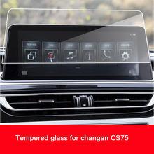 Navigtion carro vidro temperado tela lcd película protetora adesivo para changan chana cs75 2018 2019 2020