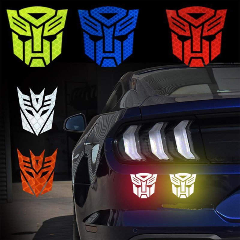 High Quality Reflective Car Stickers Transformers Decepticon Tail Badge Emblem Cruz TF Decal Cool Autobots Car Styling