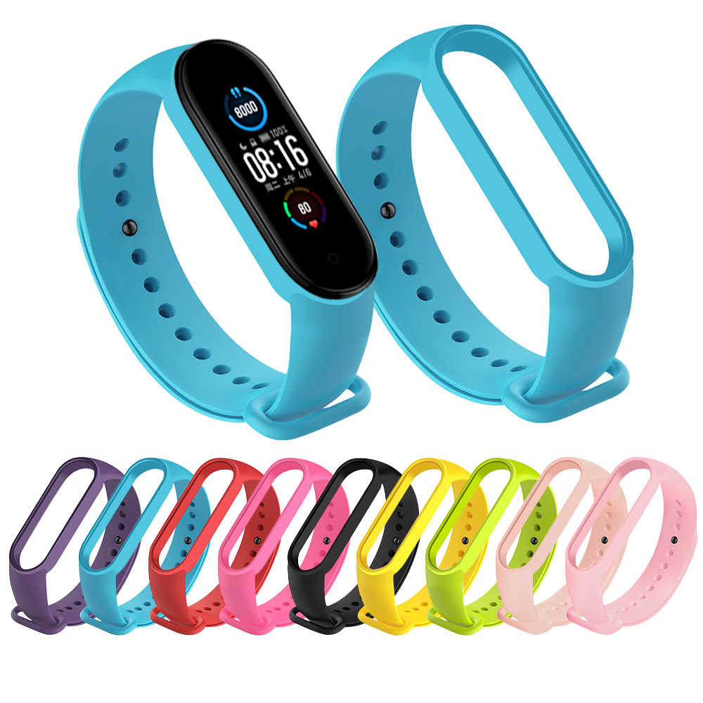 Band Voor Xiaomi Mi Band 5 4 3 Siliconen Roze Vervanging Polsband Armband Horlogeband Voor Xiomi Mi Band3 Miband 4 3 Band4 Band