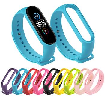 Pasek dla Xiaomi Mi Band 5 4 3 silikonowa różowa zapasowa opaska na rękę bransoletka Watchband dla Xiomi Mi Band3 Miband 4 3 Band4 pasek tanie i dobre opinie ALANGDUO CN (pochodzenie) Pasek na nadgarstek Dla dorosłych Wszystko kompatybilny Smart Wrist Strap for xiaomi band 4 For Original Xiaomi mi band 3 4 5