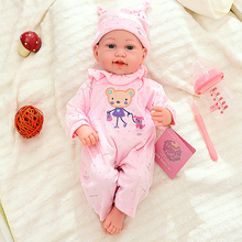 45CM Bebe Reborn Baby Dolls Toys Soft Silicone Body Lifelike Menina Infant Reborn Toddler Toy Baby B