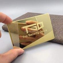 Новый классический дизайн зеркальные золотые металлические визитные