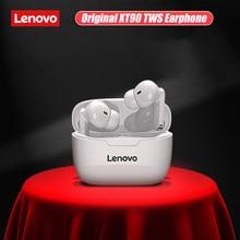 Lenovo-auriculares inalámbricos XT90 con Bluetooth 5,0, dispositivo de audio TWS, estéreo Dual, con Control táctil de bajos, batería de 300mAH, para iphone 12