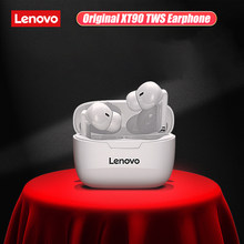 Originele Lenovo XT90 Tws Draadloze Koptelefoon Bluetooth 5.0 Dual Stereo Bass Touch Control Lange Standby 300Mah Voor Iphone 12