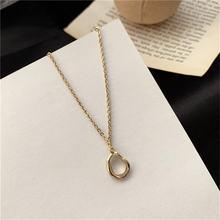 Необычная Геометрическая цепочка на ключицу ожерелье с подвеской