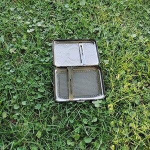 Image 4 - 1х металлическая круглая для сигарет чехол (95 мм * 73 мм) Холдинг 16 сигареты обычного размера (85 мм * 8 мм) табачный Чехол Коробка хром с 2 зажимами