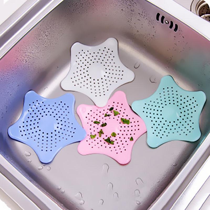 Silicone Floor Drain Kitchen Bathroom Supplies HotStar Fish Type Kitchen Sink Hair Anti-blocking Filter Sewer Block Suction Cup
