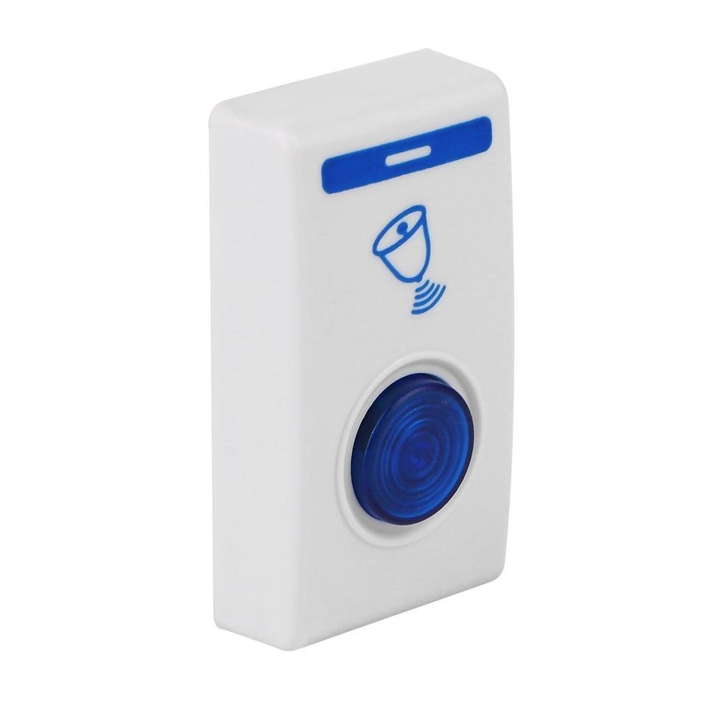 DC3V White LED Door Bell Wireless Doorbell Battery Powered 32 Tune Songs 1 Remote Control 1 Wireless Home Security Smart Doorbel