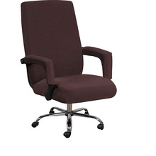 Office Rotating Computer Chair Cover Elastic Office Lift Computer Chair Cover Anti-dirty Removable Seat Cover with Armrest