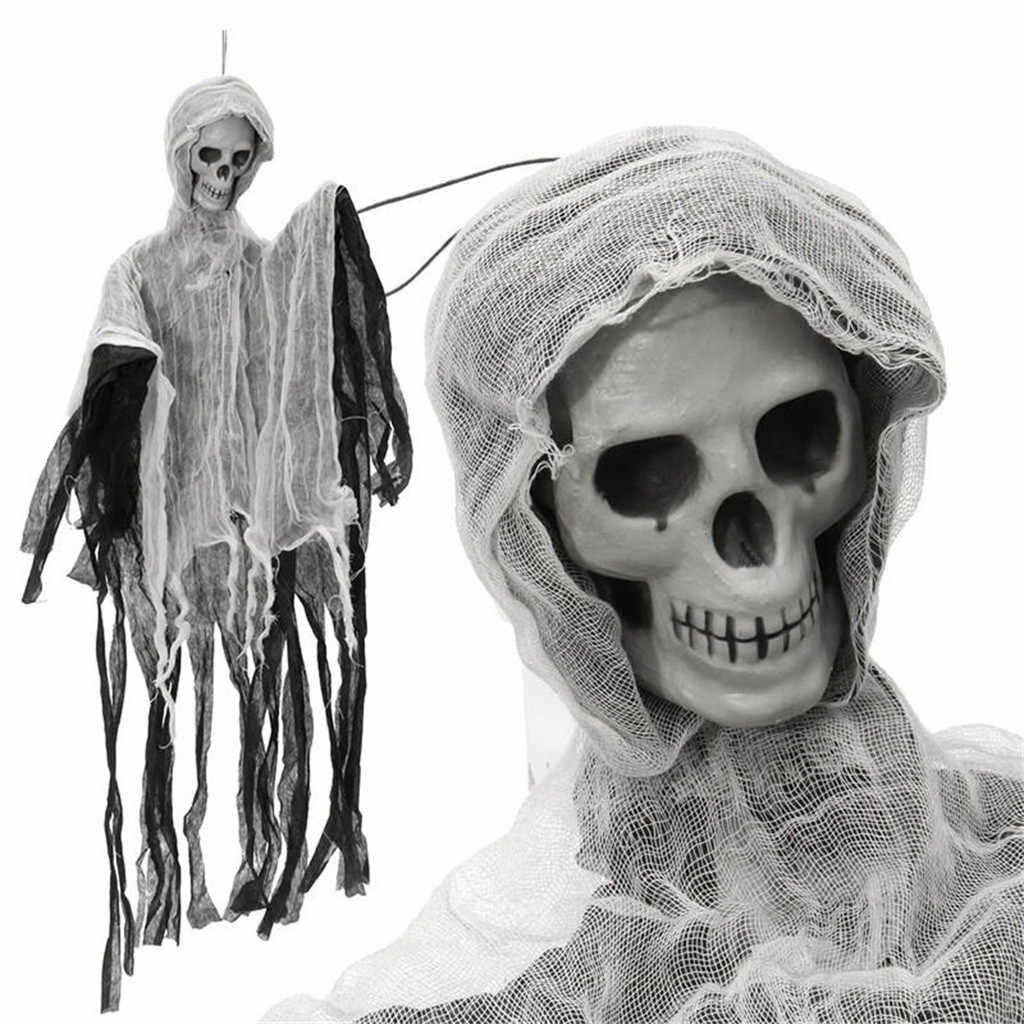 Novel prank antistress toys for Halloween Creepy Funny Human Ossature Skull Figurine Scary Halloween Ossature Prop Party Toy