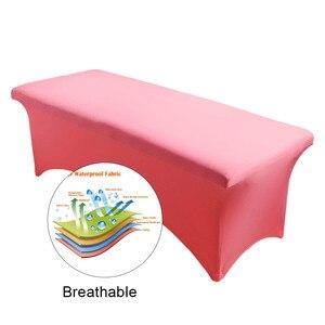Image 4 - Funda de cama de pestañas especial para pestañas, funda de cama de mesa, lámina Rectangular de Spandex, herramienta de maquillaje para salón de cosméticos