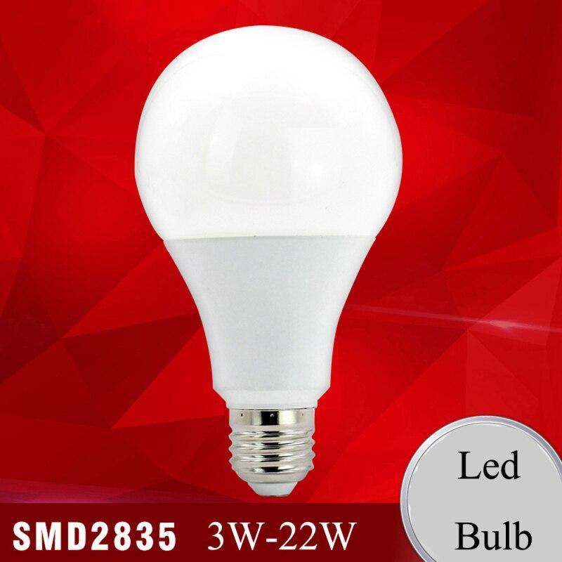 E27/B22 Real Power LED Blub 9W/15W/22W  Lampada Ampoule Bombilla Light Bulbs Home Lighting 220V Cold/Warm White Led Spotlight