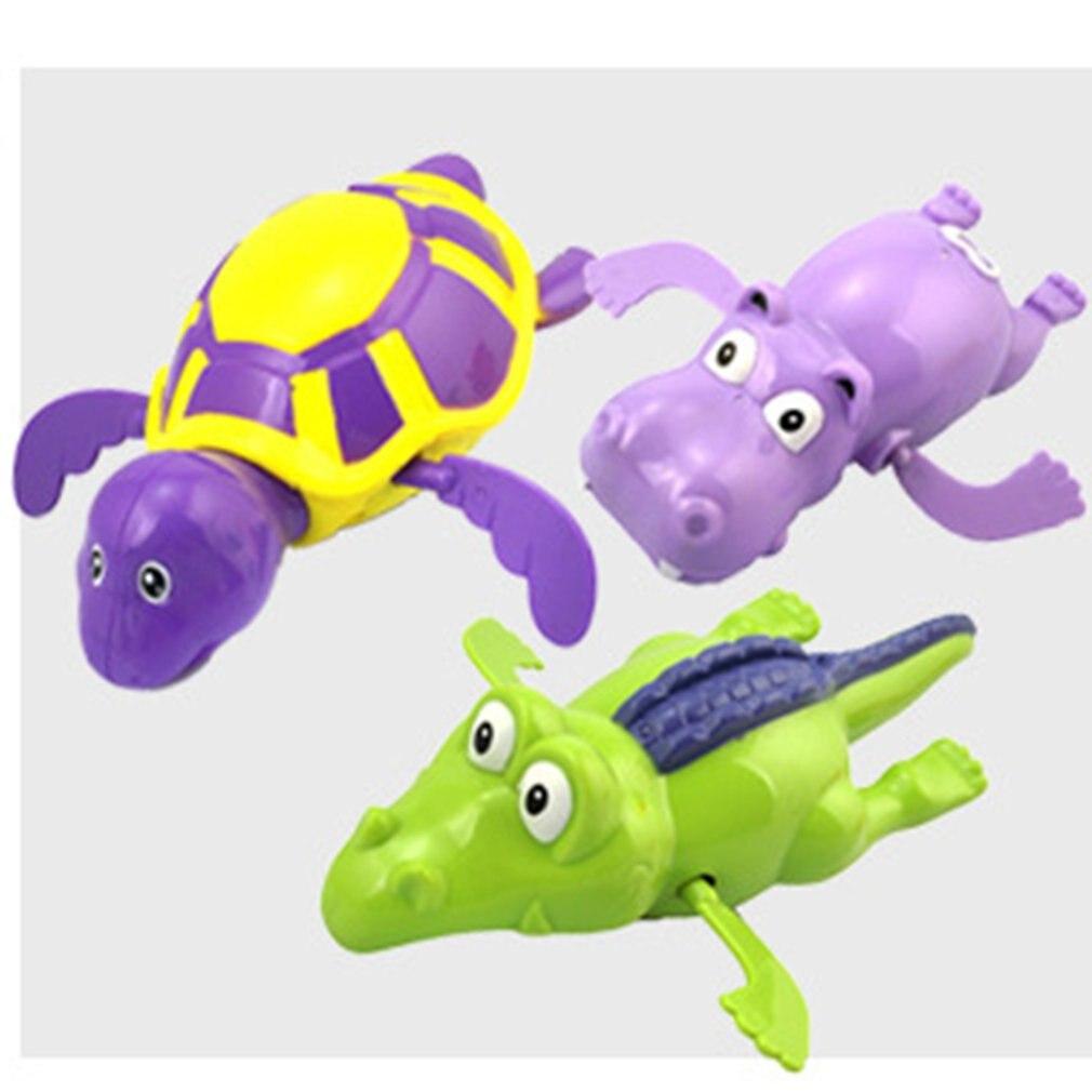 Baby Cute Hippo Crocodile Turtle  Fish Animals Bath Toy Funny Spring Swimming Tortoise Creative Bathtub Game For Kids Boys Girls