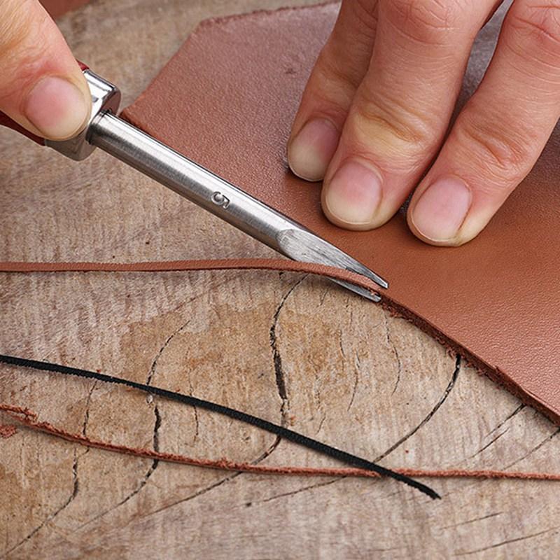 Ручки из бука Кожевенная кромка кожевенное ремесло Режущий инструмент для кожевенного ремесла 0,8/1/1/2/1/5 мм практичные инструменты для кожев...