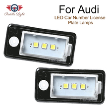 2Pcs Car LED Number License Plate Light Bulb Error Free Number Plate Lamp For Audi A4 A5 A6 C6 A3 S3 S4 S5 B6 B7 S6 A8 S8 Rs4 Q7 цены