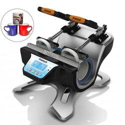 Wielofunkcyjna drukarka do nadruków ciepła 110-220V podwójna stacja 280W inteligentna maszyna do przebarwiania kubka do pieczenia szkła