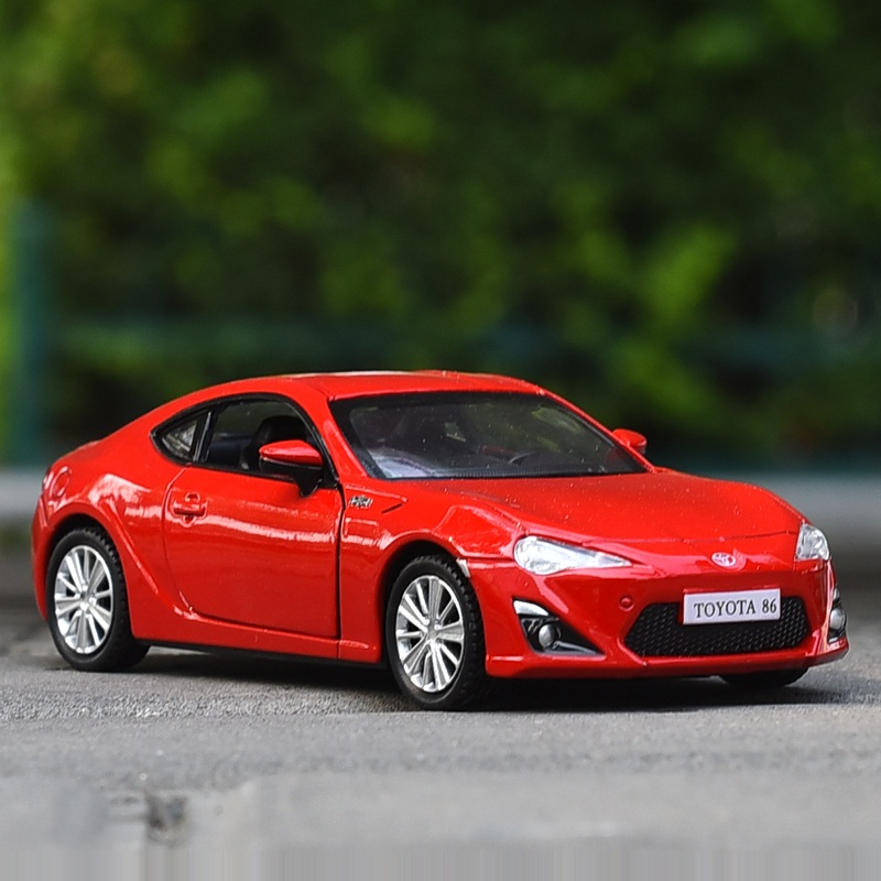 High Simulation Exquisite Diecasts & Toy Vehicles: RMZ City Car Styling TOYOTA 86 GT 1:36 Alloy Diecast Car Model Pull Back Cars