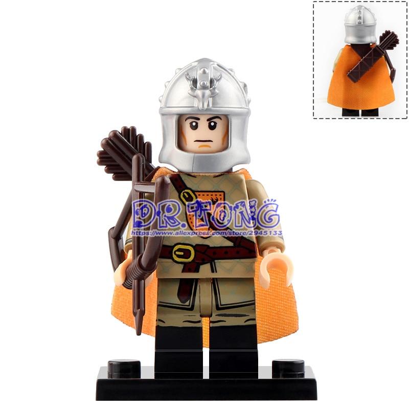 20pcs KT1029 Eddard Stark Joty Cassel The Archer Spear Sword Infantry Game of Thrones Figures Building Blocks Toys For Kids