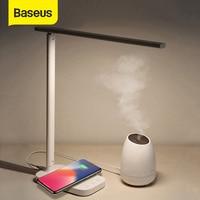 Lámpara de noche Baseus USB  lámpara de mesa inteligente con cargador inalámbrico Qi para iPhone XS Max X  luz LED de escritorio para Samsung Estufas eléctricas     -