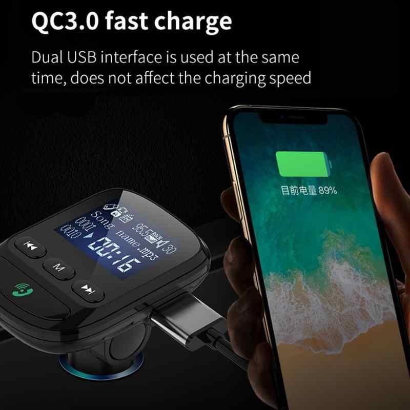 カーキット BT06 液晶ハンズフリーの bluetooth fm トランスミッタカーキット MP3 プレーヤー QC3.0 usb 急速充電器カーアクセサリー