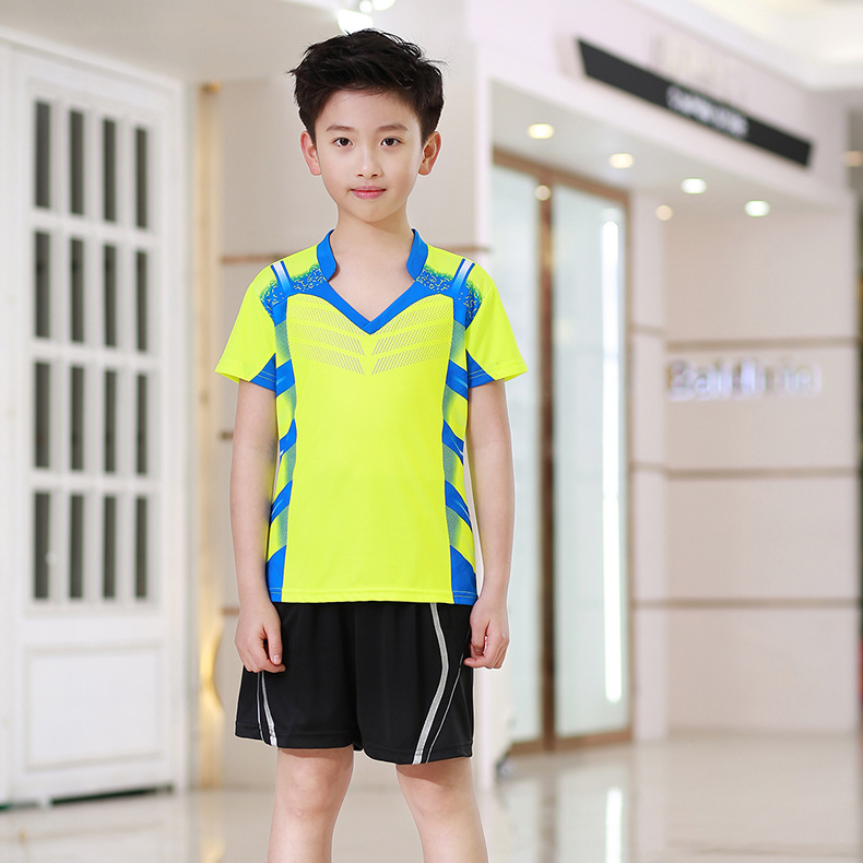 Summer CHILDREN'S Short-sleeved Clothes Table Tennis Wear Set Men And Women-Childrenswear Quick-Dry Breathable Game Training Sui