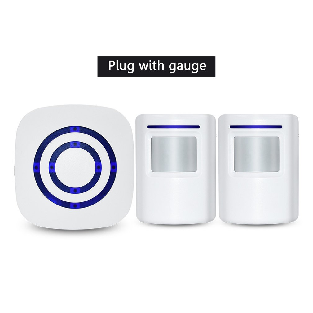 White Smart Doorbell Wireless Doorbell 32 Tune Songs 1 Button 2 Receiver EU US Plug