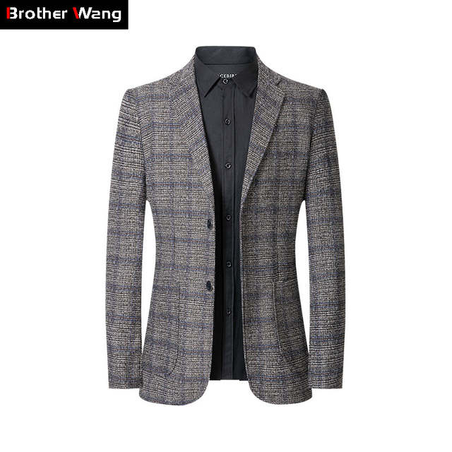Business Casual 2020 Mens.Us 35 0 50 Off Plaid Blazer Men 2020 Spring And Autumn The New Fashion Business Casual Slim Fit Suit Coat Male Brand Clothes On Aliexpress