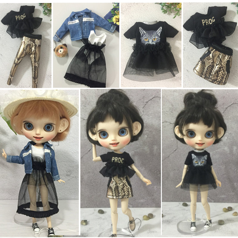 New Arrival Fashion Doll Dress And Clothes Fit For Blyth, Licca, Azone, OB24 Pullip DOLL Momoko,1/6 30cm Doll Child Gift