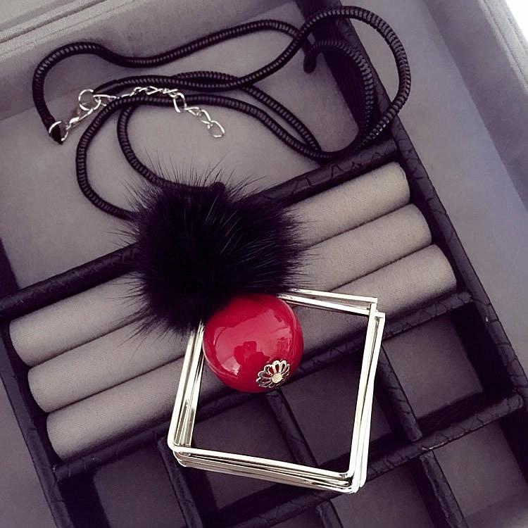 Collier Long pour femmes, chaîne de chandail, pendentif boule géométrique, Maxi déclaration bohème, Collier Sautoir, Ras Du Cou, 2021