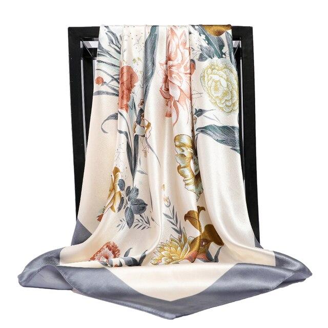 Silk Scarves Square Hijab Poncho 5
