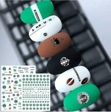 Autocollants 3d nail art, modèles de café, mignon tasse de verre, modèle dautocollants, décorations pour ongles, bricolage, ca seriesCA 312