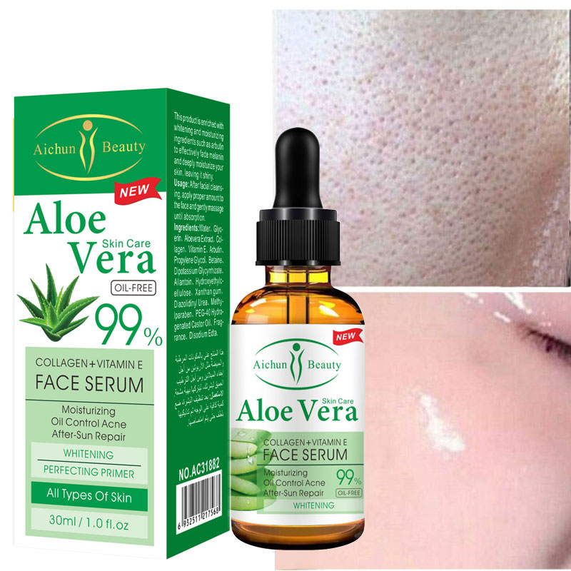 Aloe Vera Gel Pure Hyaluronic Acid Serum Facial Moisturizing Skin Repair Essence Whitening Anti Wrinkle Face Cream