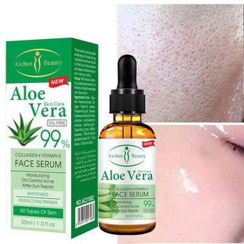 Gel de Aloe Vera, suero de ácido hialurónico puro, crema Facial hidratante,...