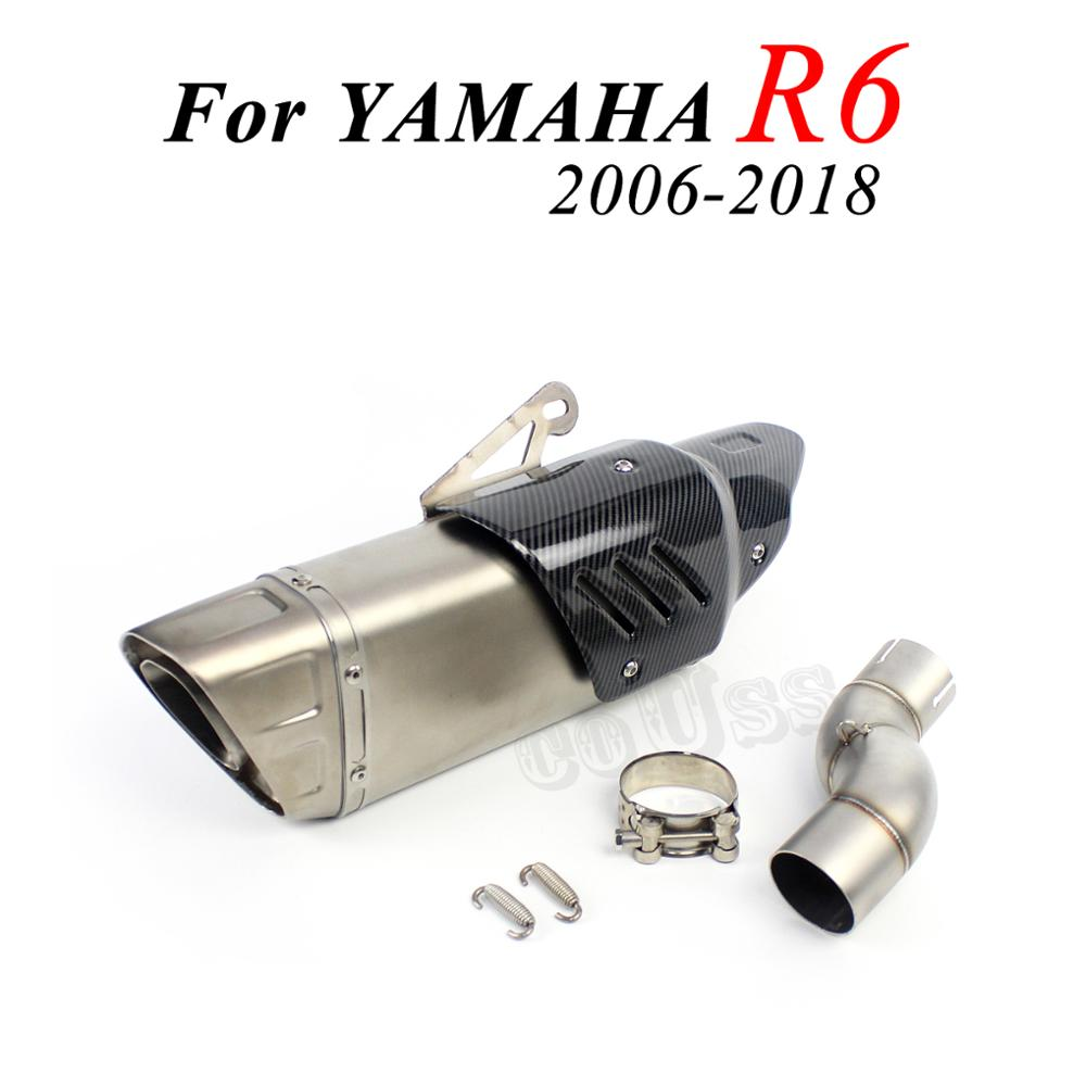 1 комплект, глушитель для мотоцикла YAMAH R6 2006-2018 AK Akrapovicc