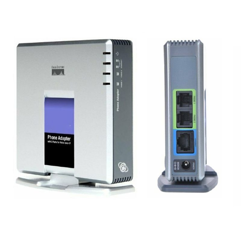 Closeout DealsVOIP Gateway Network-Cable Voice-Adapter Internet Phone SIP 2-Ports Linksys Pap2t
