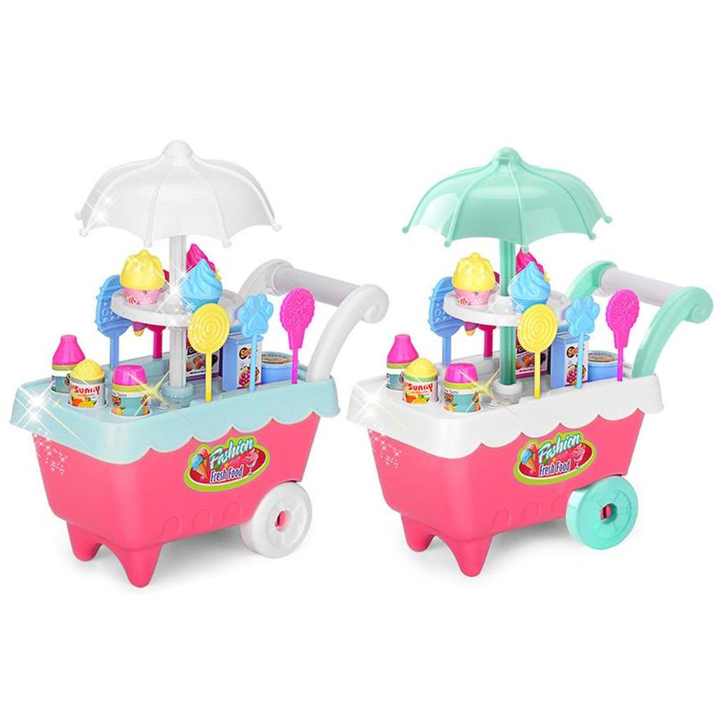 Baby Cartoon Pretend Play Sweet Shop Candy Cart Toys Graceful And Beautiful Simple Multipurpose Set Ice Cream Role Play