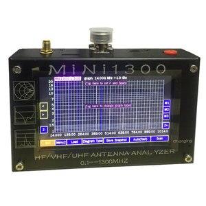 "Image 3 - TZT 2020 חדש Mini1300 HF/VHF/UHF אנטנת Analyzer 0.1 1300MHz עם 4.3 ""TFT LCD מגע מסך אלומיניום סגסוגת Shell"