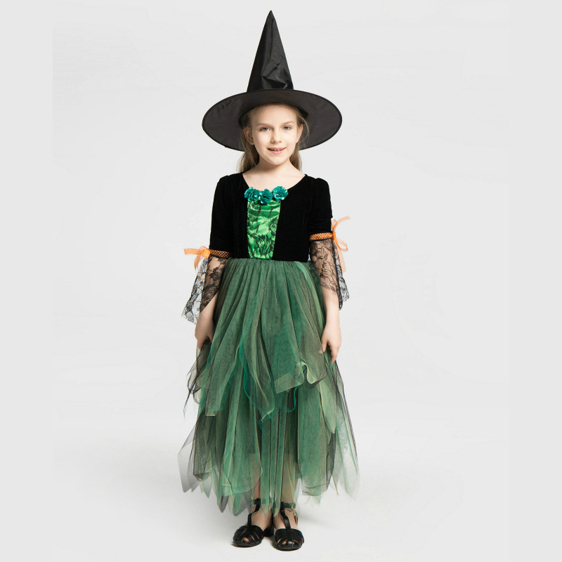 Turquoise Witch Girls Costume