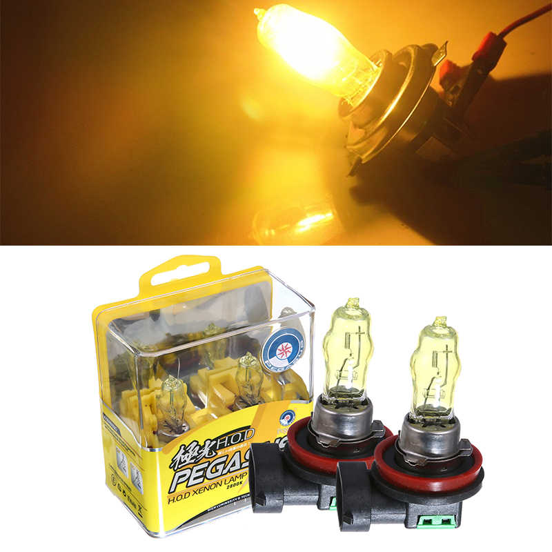 Car Halogen Bulb H1 H3 H4 H7 H8 H11 9005 9006 880 881 White H11 Yellow Lights 6000K 12V 100W Auto Lamp Car Headlamp Headlight