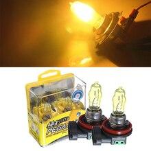 Lampadina alogena per Auto H1 H3 H4 H7 H8 H11 9005 9006 880 881 bianco H11 luci gialle 6000K 12V 100W lampada automatica faro per Auto
