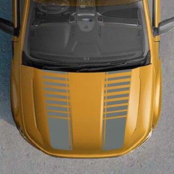 2 sztuk kaptur paskiem gradientu graficzne naklejki samochodowe winylu pasuje do ford ranger 2015-preaent