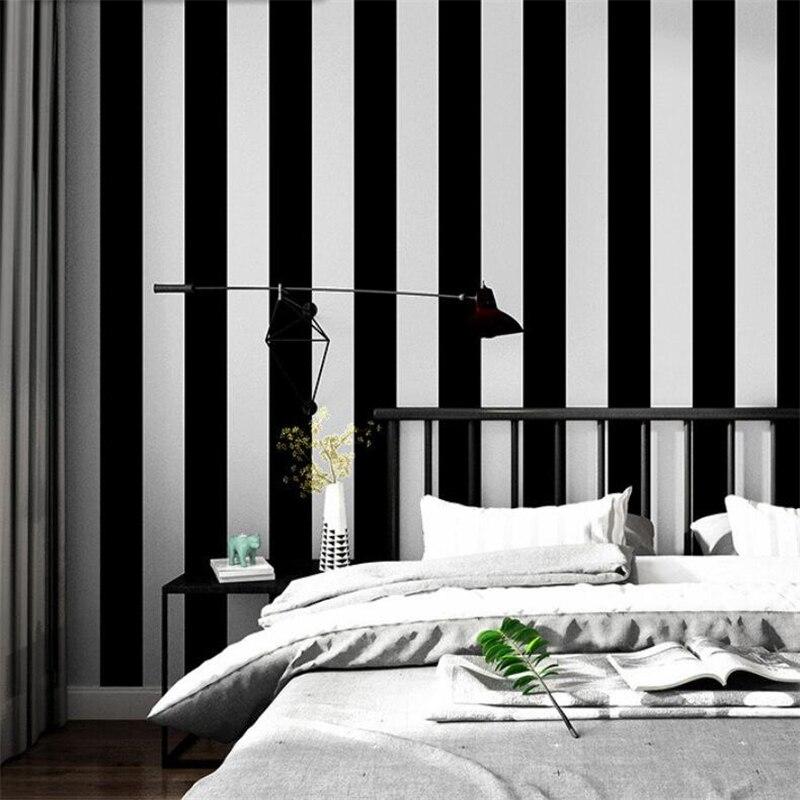 Черно белые обои в полоску фото