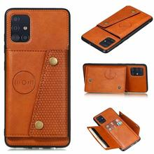 For Samsung Galaxy A21S A21 A01 A11 A41 A51 A71 Leather Card Holder Case For A12 A52 A72 A10 E A30 A50 S A70 Wallet Flip Cover