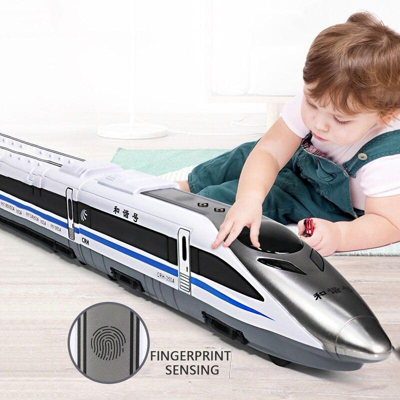 Harmony Train Toy High-speed Rail EMU Children's Simulation Subway Locomotive Model Boy Track One-touch Fingerprint Sensor