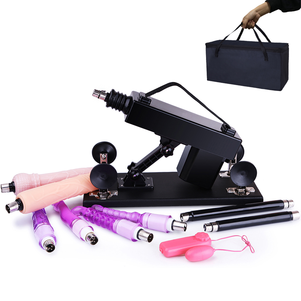 Female Masturbation <font><b>Machine</b></font> Pumping Gun with 6 <font><b>Dildos</b></font> Attachments Automatic Love <font><b>Machines</b></font> <font><b>sex</b></font> toys for Women Included Handbag image